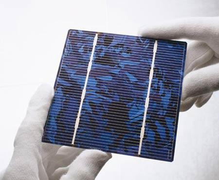 Exemple de cellule photovoltaïque