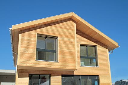 façade d'une maison bois