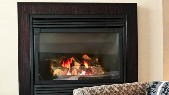 photo d'une cheminée insert
