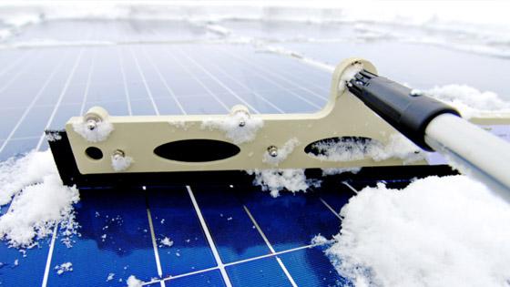 nettoyage d'un solaire photovoltaïque